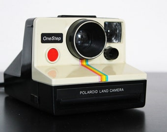 Vintage Polaroid Rainbow Onestep One Step Instant Land Camera White
