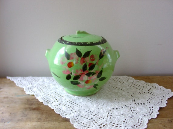 Vintage Mccoy Ball Shaped Stoneware Cookie Jar By