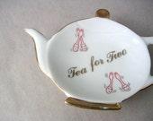 Tea for Two Vintage Tea Bag Holder
