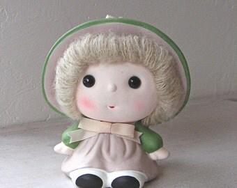 Vintage Doll Figurine Ceramic Sachet Pomander