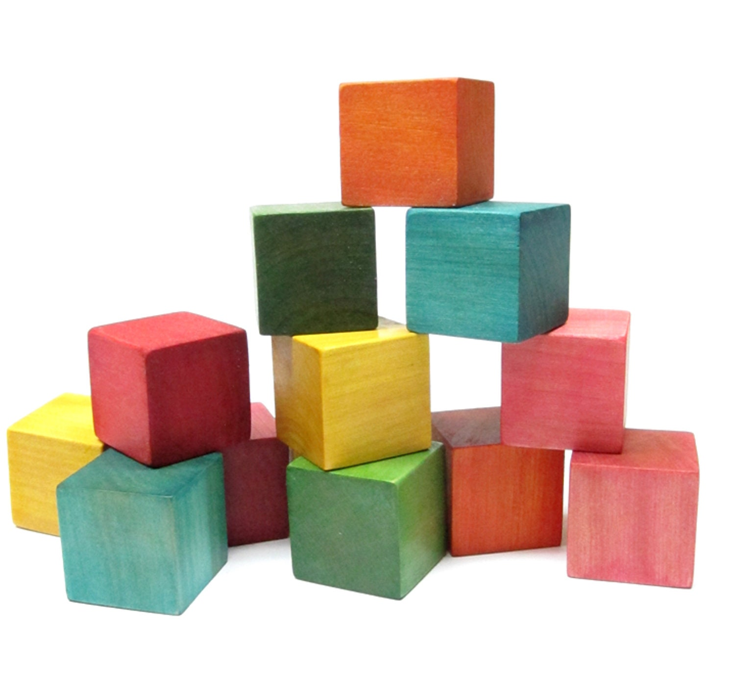 Baby Blocks Toys : Wood toys blocks colorful waldorf building