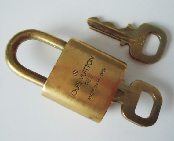 Authentic Vintage Louis Vuitton Gold Tone Handbag Lock and Key - Lock and Key - Vintage Luois Vuitton - Locks and Keys