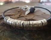 RINGED with LEAF & LAVA  leather bracelet (52)