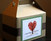 Unique Wedding Welcome Boxes for OOT Hotel Guests - Floral Tree Heart Design