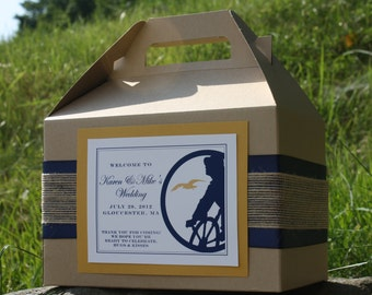 Wedding Welcome Boxes for Hotel Guests - Nautical Fisherman Design