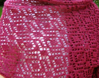 Knit Wrap Pattern:  Fantasia Lace Wrap Knitting Pattern