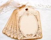 Vintage Style Gift Tags French Inspired Label  -  Shabby Chic Style Gift Wrap