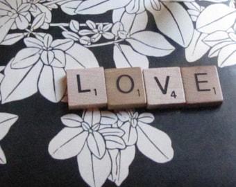 Vintage Wood Scrabble Tiles / Custom Word, Phrase or Name