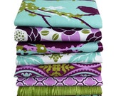 Half Yard Bundle of 8 - Aviary 2 by Joel Dewberry for Free Spirit - Lilac Palette - 4 Yards Total