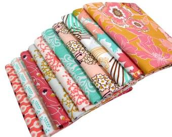 Fat Quarter Bundle - Summerlove by Patricia Bravo - Sunkissed Palette - Art Gallery Fabrics - 10 pcs
