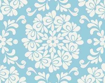 Priscilla Ball Blue c3363 - Lila Tueller - Riley Blake Designs Fabric - By the Yard