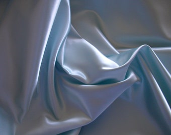 Pale Aqua Bridal Satin   1 Yard   (SM228)