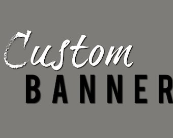 OOAK Custom Banner Design (w/Complimentary matching Profile Picture design)