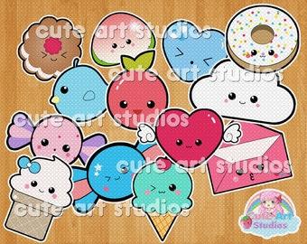 Assorted Kawaii Cute Cliparts