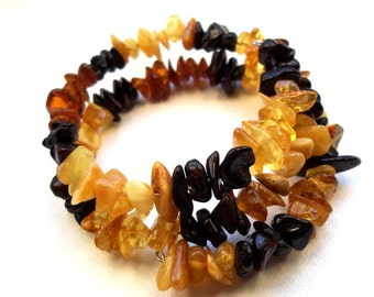 BALTIC  AMBER  BRACELET. Adjustable size.