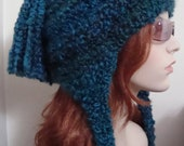 "RESERVED for Trinh Earflap hat in ""Lagoon"" Custom Order"