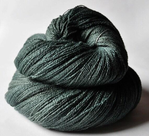 Dark lichen on a graveyard OOAK- Merino/Silk/Cashmere Yarn Fine Lace weight