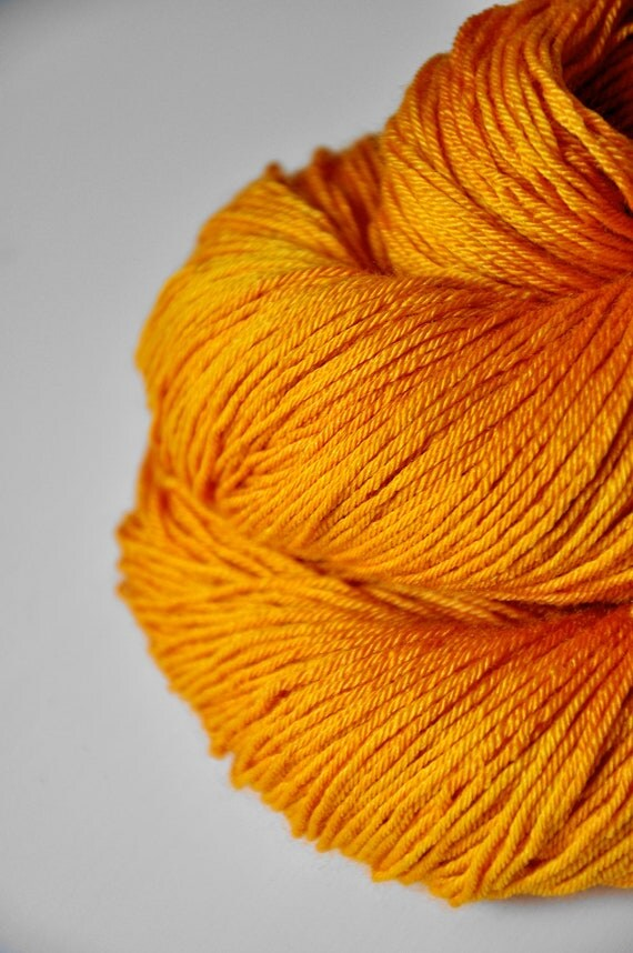 Fire ant knocking on heaven's door OOAK - Merino/Silk superwash yarn fingering weight