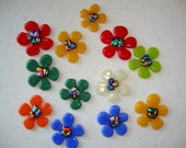 Flowers - Fused Glass with dichroic accents