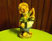 Vintage dabs Made in Japan HillBilly Playing Accordian Ashtray RARE