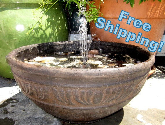 Tuscan Bowl 17 Water Fountain Indoor Or By Noodledoodesigns
