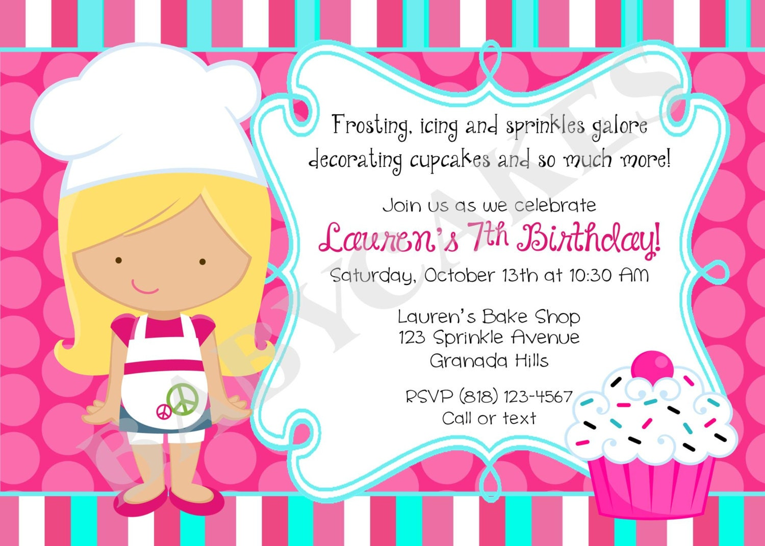 Cupcake / Decorating /birthday /Party /Invitation by jcbabycakes