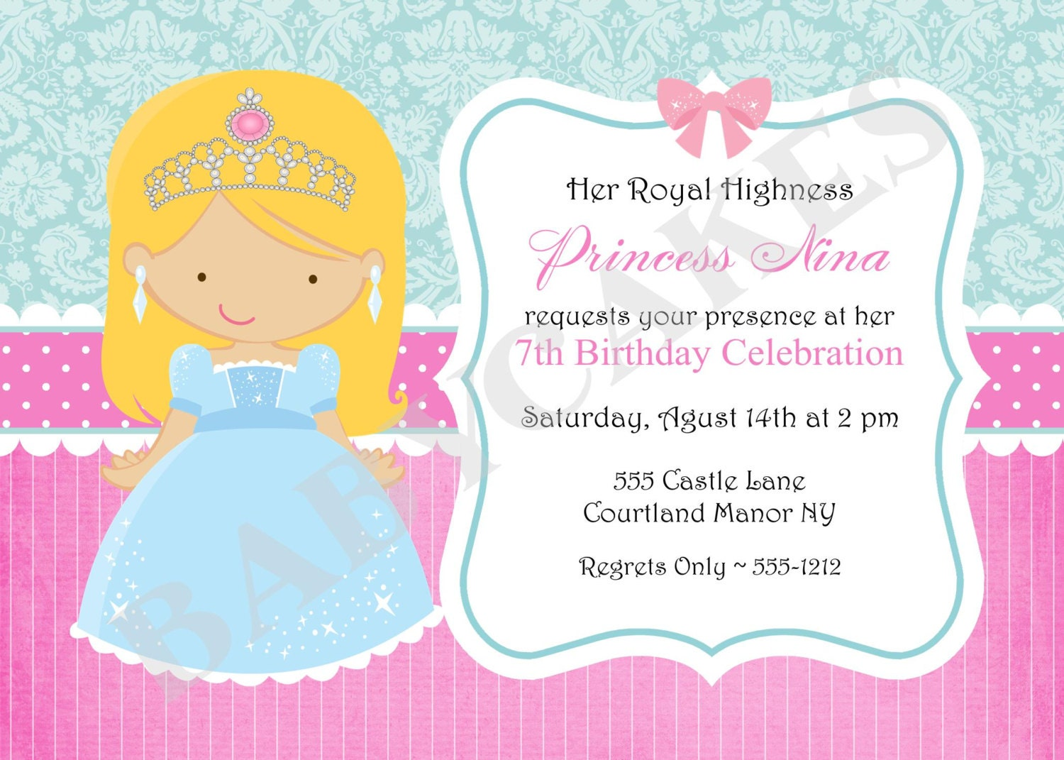 diy princess birthday invitations - 28 images - easy made ...