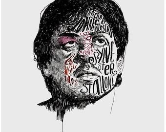 Rocky Film Poster Print