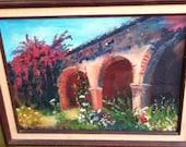 Original Vintage Oil Painting / California Mission