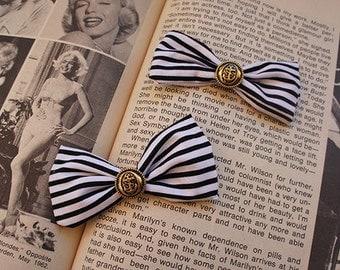 Olivia Paige - 2pcs ROckabilly vintage Anchor bow Pin up