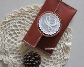 hand-stitched leather iPhone  Case  or purse  - FREE SHIPPING