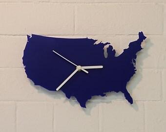 U.S.A. clock (Blue)