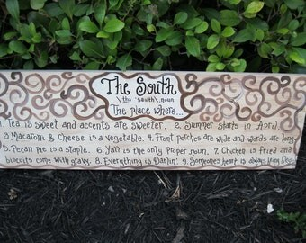Jez4U Custom painted The SOUTH sign Do you want it simple or with the scroll detail Custom order your own sign