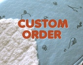 CUSTOM ORDER for Ikena -- Sea Creatures on Cloud9 Baby Blanket 34.5 x 34.5 inches