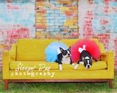 Super Fluffy Custom Dog tutu choose your colors SEWN Small to Large
