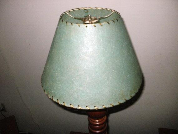 Vintage Green Fiberglass Lamp Shade
