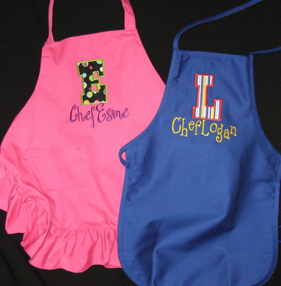 Items Similar To Personalized Kid's Apron On Etsy