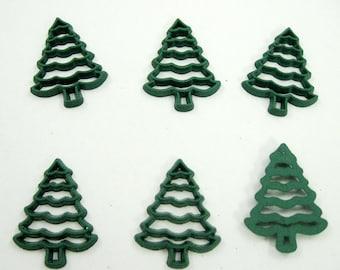 Green Christmas Tree Flat Back Embellishment