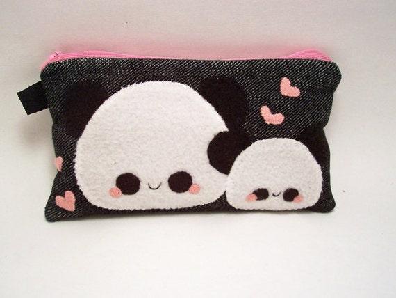 Panda Kawaii Pencil Case coin purse makeup bag cell phone holder