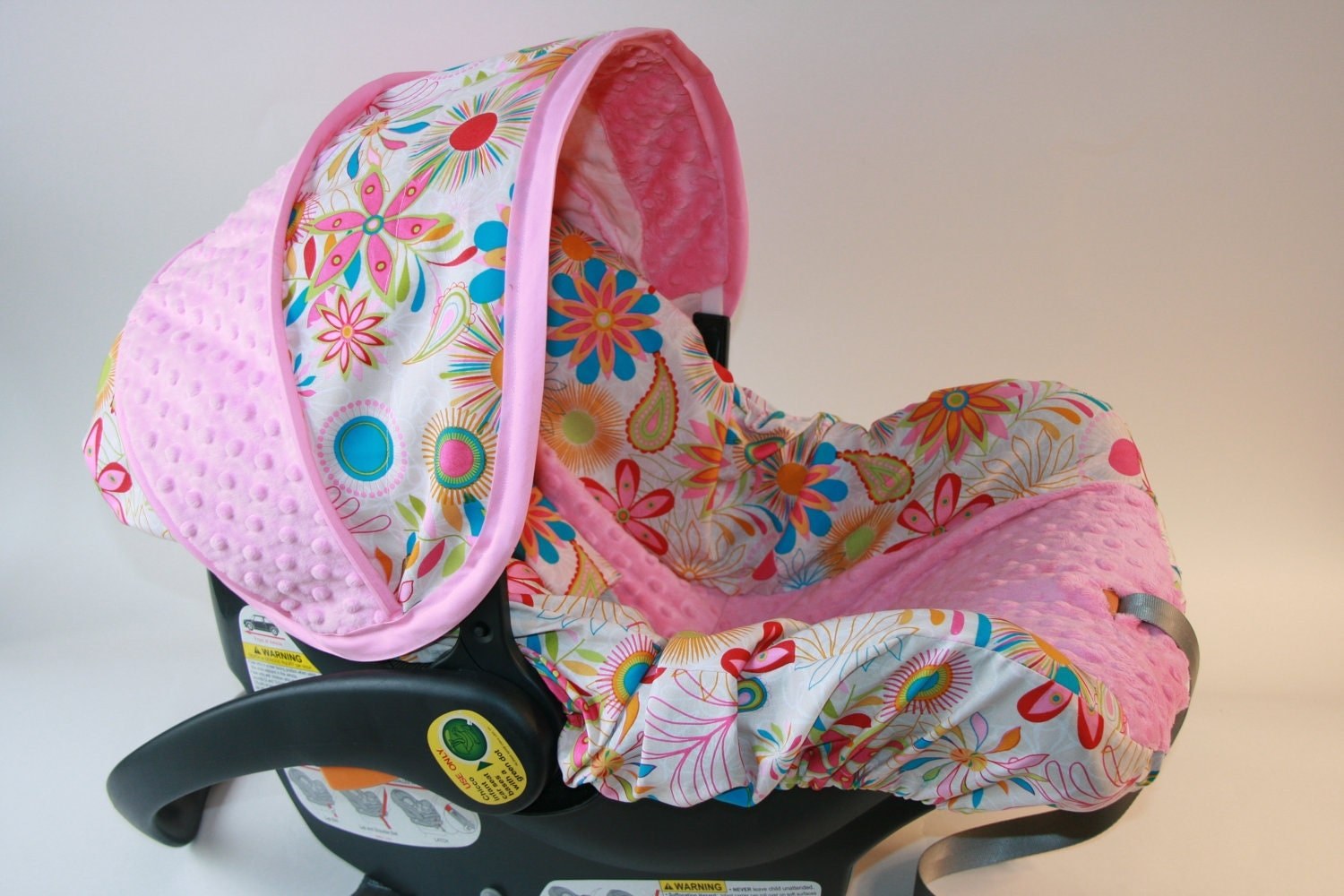 Floral And Paisley Baby Girl Infant Car Seat Cover With Hot