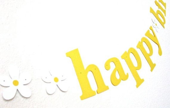 happy birthday Banner with Flowers. Fun.  Bright.  Cheerful.  Girl Birthday.  Woman Birthday.  Teen Birthday.  Photo Prop.  5280 Bliss.