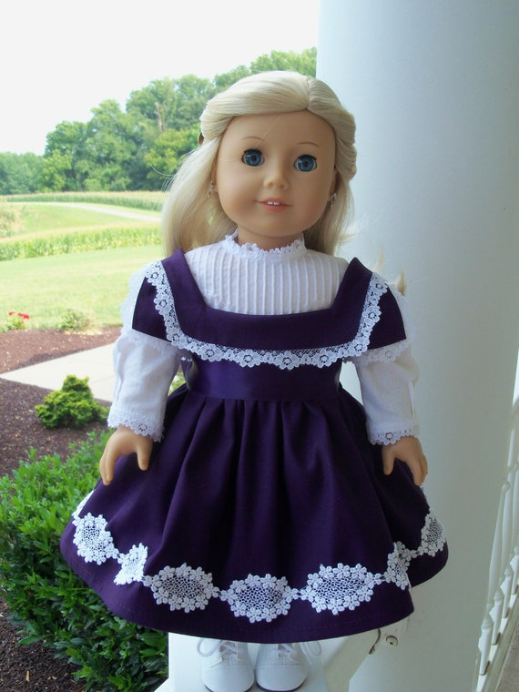 American Girl  Historical Dress with Gimpe / Clothes for Marie Grace and Cecile
