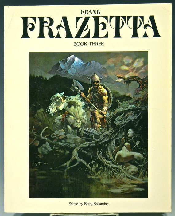 FRANK FRAZETTA - Book Three, Later Edition, Soft Back, Illustrated 1981, Mature