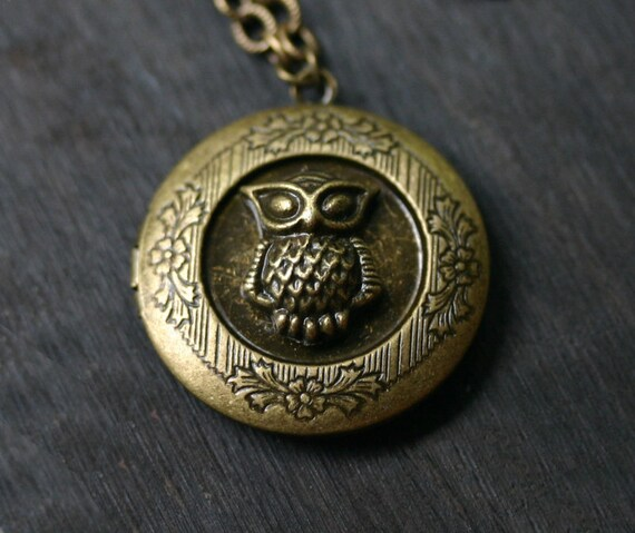 Owl Locket Necklace