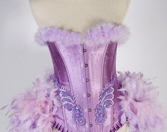 SALE! LAST ONE  Small Orchid : Burlesque Costume Lavender Purple  Las Vegas Showgirl Corset Adult Women's Carnival Masquerade Costume
