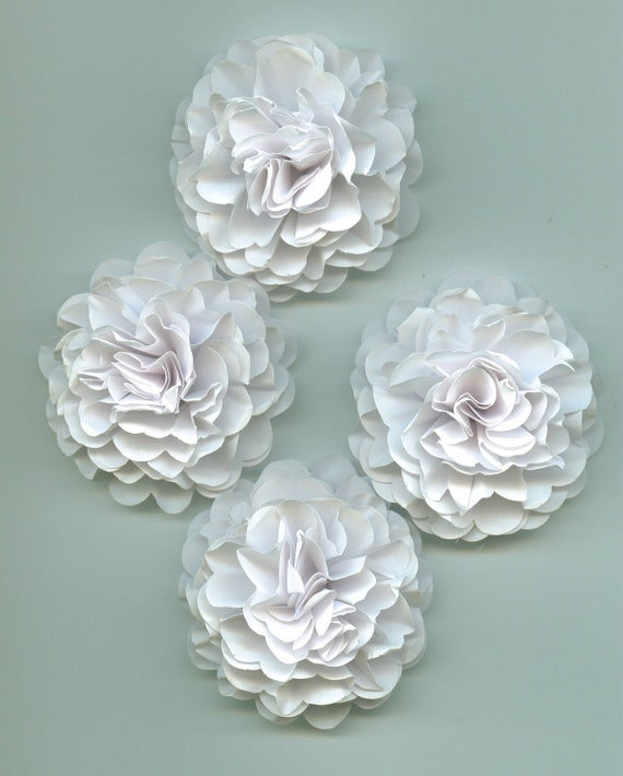 White Carnation Paper Flowers for Weddings, Bouquets, Events and Crafts