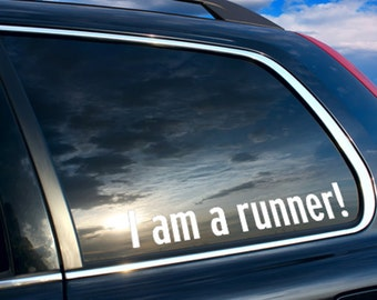 I am a runner, running sticker