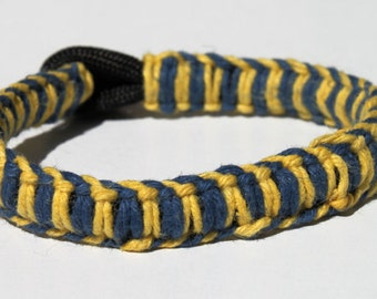 TU Tulsa University Hurricane Inspired Hemp Wrapped Over 550 Paracord Survival Strap Bracelet Anklet