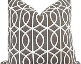 "NEW, Pillow Cover, Cushion,  20""x20"" Charcoal geometric gate"