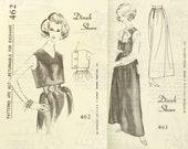 Vintage 1960s Designer Evening Skirt Top Patterns Uncut Bust 36 Set of 2 Spadea 462 463 Size 14  Dinah Shore